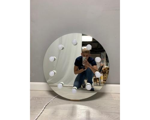 Круглое настенное гримерное зеркало с подсветкой 60х60