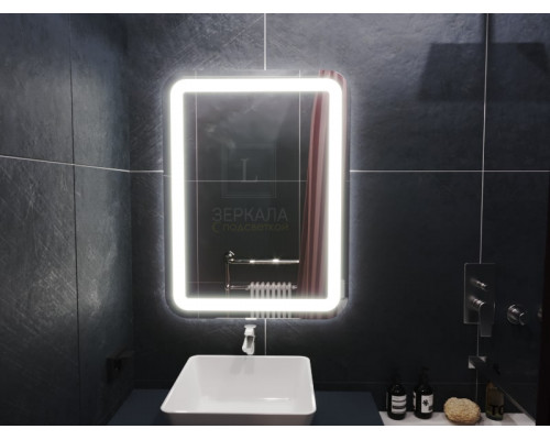 Зеркало в ванную комнату с подсветкой Вияна